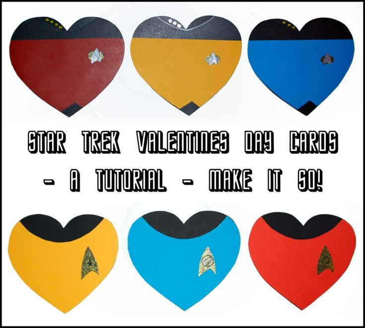 Star Trek DIY valentines day cards. #TNG and #TOS