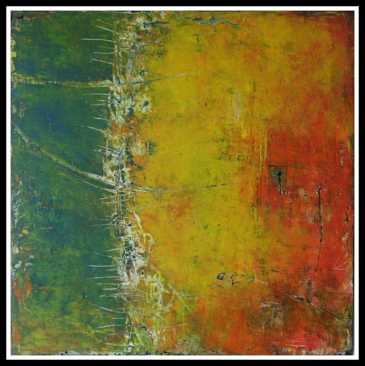"""""""Pensieri spettinati"""" 80 × 80  Oil and cold wax"""