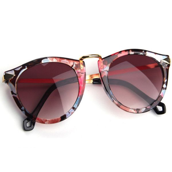 Prinkko Vintage Round Popular Sunglasses With Metal Element and other apparel, accessories and trends. Browse and shop 21 related looks.