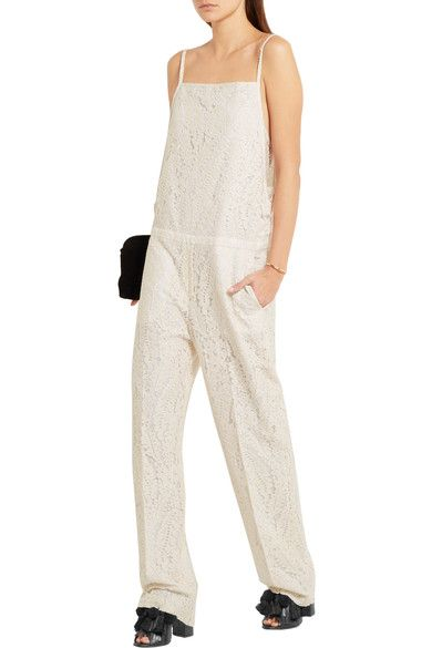 No. 21 - Ruffle-trimmed Lace Jumpsuit - Off-white - IT42