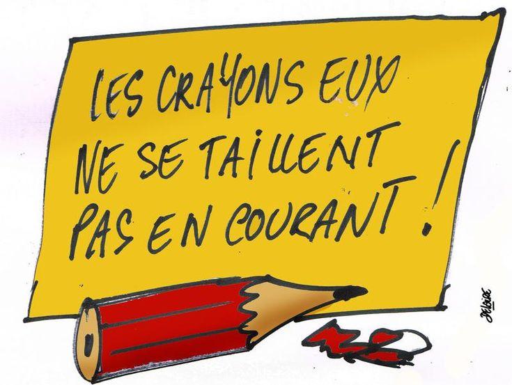 Crayons courageux