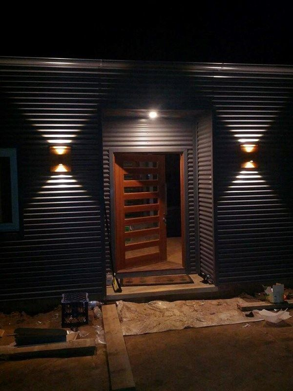 """TIP: """"We Colourbond clad our house for minimum maintenance. Teamed with these LED lights, it's beautiful. Still building though!"""" #MyCOLORBONDBuild"""