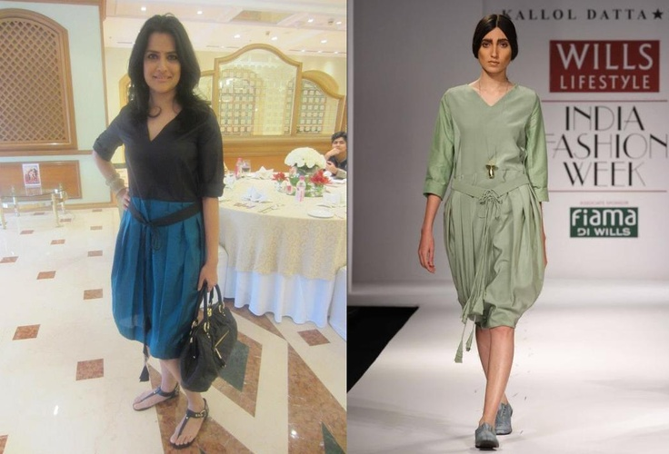 Sona Mohapatra in Kallol Datta at Elle Magazine Brunch. At the recent Elle Magazine Brunch in Mumbai, Sona Mohaptra wore a Kallol Datta 1955 Garden Dress. I prefer the version on Sona than the runaway version because of the two tones on the dress. She accessorized with Kalash Filigree bracelet and Marc Jacobs handbag. I think she looked fresh and its a perfect summer outfit. LOVE!