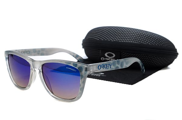 $10.99 Perfect Oakley Frogskins Sunglasses Gray Spots Frame Deep Purple Lens US Outlet www.oakleysunglassescheapdeals.com