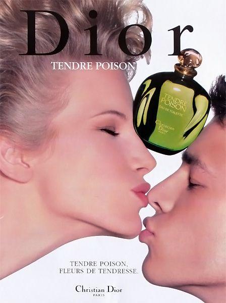 Publicité du parfum Tendre Poison