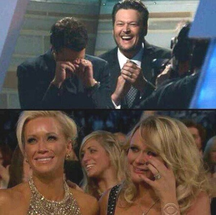 Reactions to Luke winning Entertainer of the Year ♥ ( Luke Bryan, Caroline Bryan, Miranda Lambert, Blake Shelton )