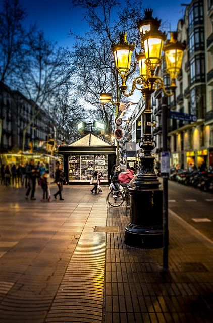 Barcelona, Ramblas..sadly I walked this entire wonderful thoroughfare on a Sunday and all the stores were closed...