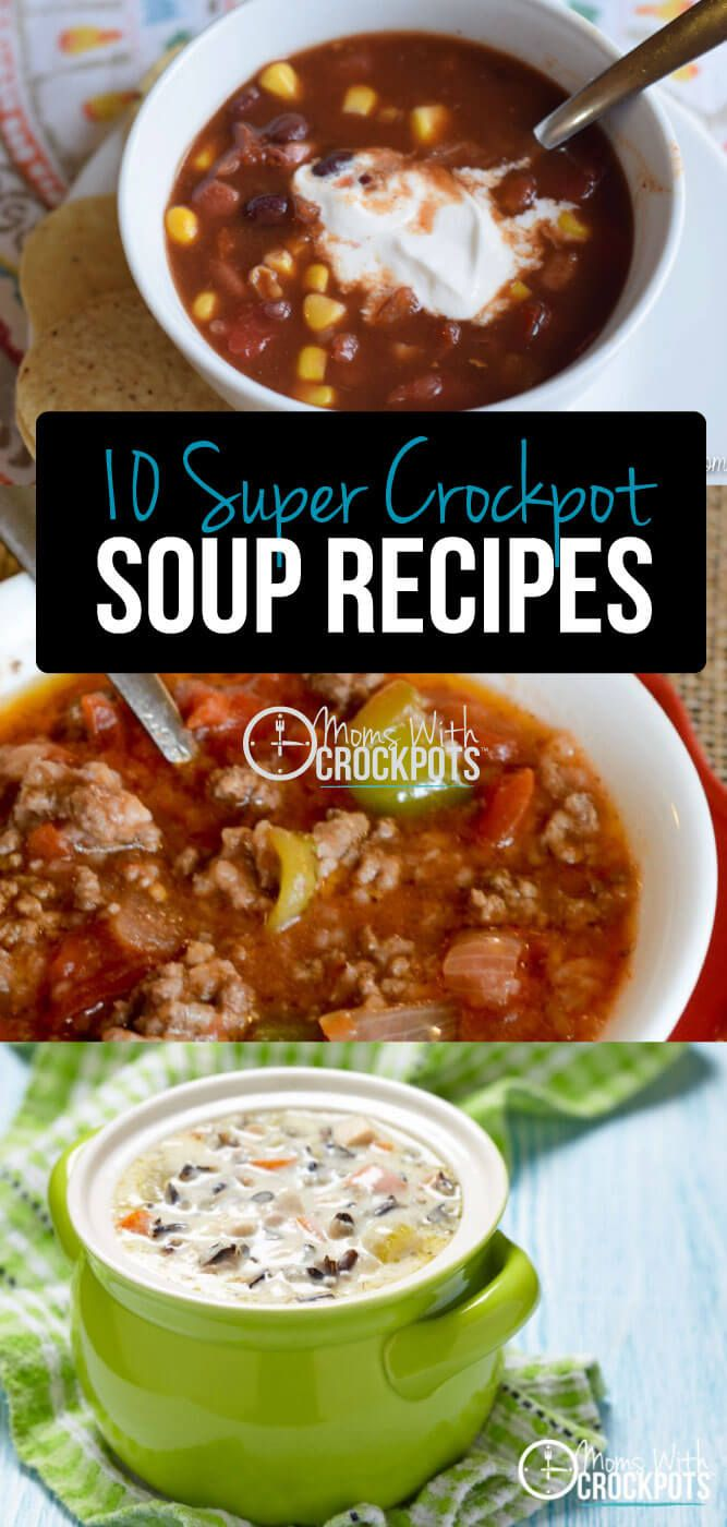 When the chill hits the air there is one meal on everyones' mind; SOUP! Why not be one step ahead of the game and make it in the crock pot?! These crockpot soups are so simple to throw together! Check out these 10 Super Crockpot Soup Recipes to have on ha