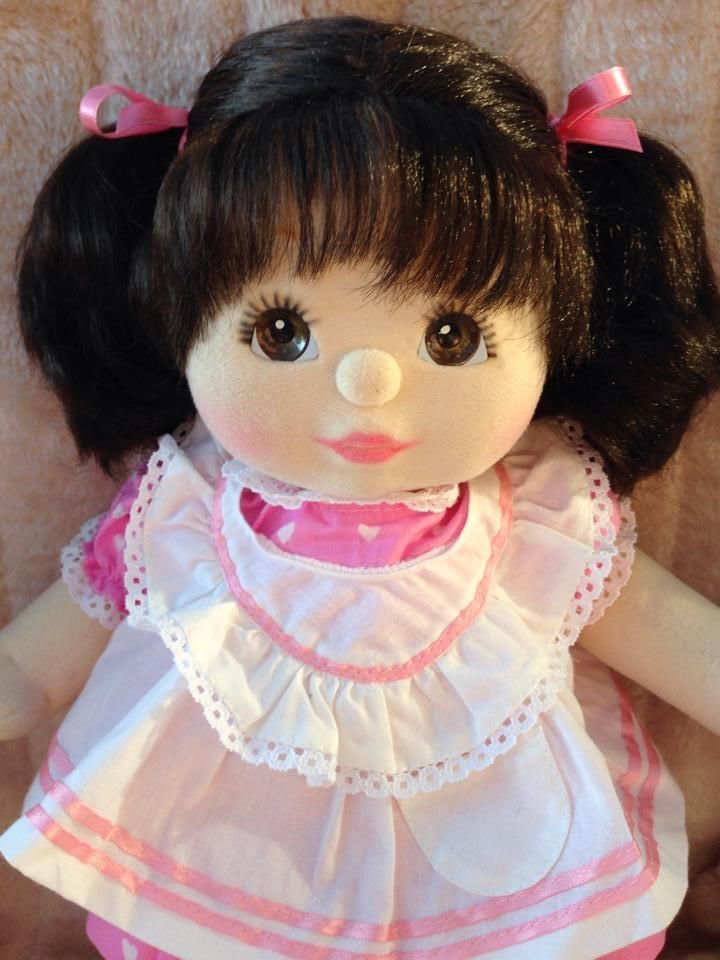 My Child Doll Brunette Pony Brown Peach Pink in Dolls, Bears, Dolls, My Child