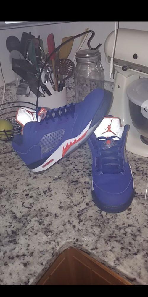 85a9cd9c2693 Nike Air Jordan 5 V Retro Low  Knicks  Royal Blue-Orange sz 14  819171-417    fashion  clothing  shoes  accessories  mensshoes  athleticshoes (ebay link)