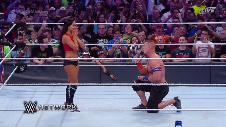 A WrestleMania moment for the ages! After winning their Mixed Tag against The Miz & Maryse, John Cena PROPOSES to Nikki Bella at The Ultimate Thrill Ride on WWE Network!
