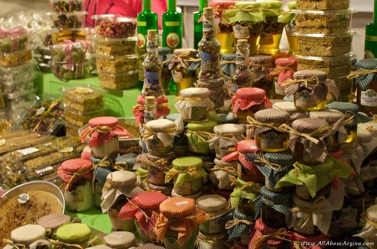 Traditional products with pistachios (Aegina Fistiki Fest)