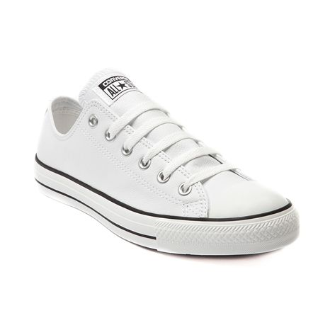 Shop for Converse All Star Lo-Top Leather Sneaker in White at Journeys Shoes. Shop today for the hottest brands in mens shoes and womens shoes at Journeys.com.The original Old School athletic shoe is still cool. Some things dont change because they dont need to. Leather upper.Please note that this shoe runs a half size large.