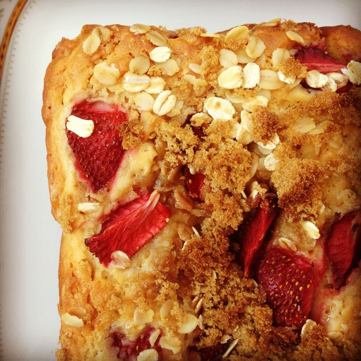 strawberry oat bread - my lovely little lunch box