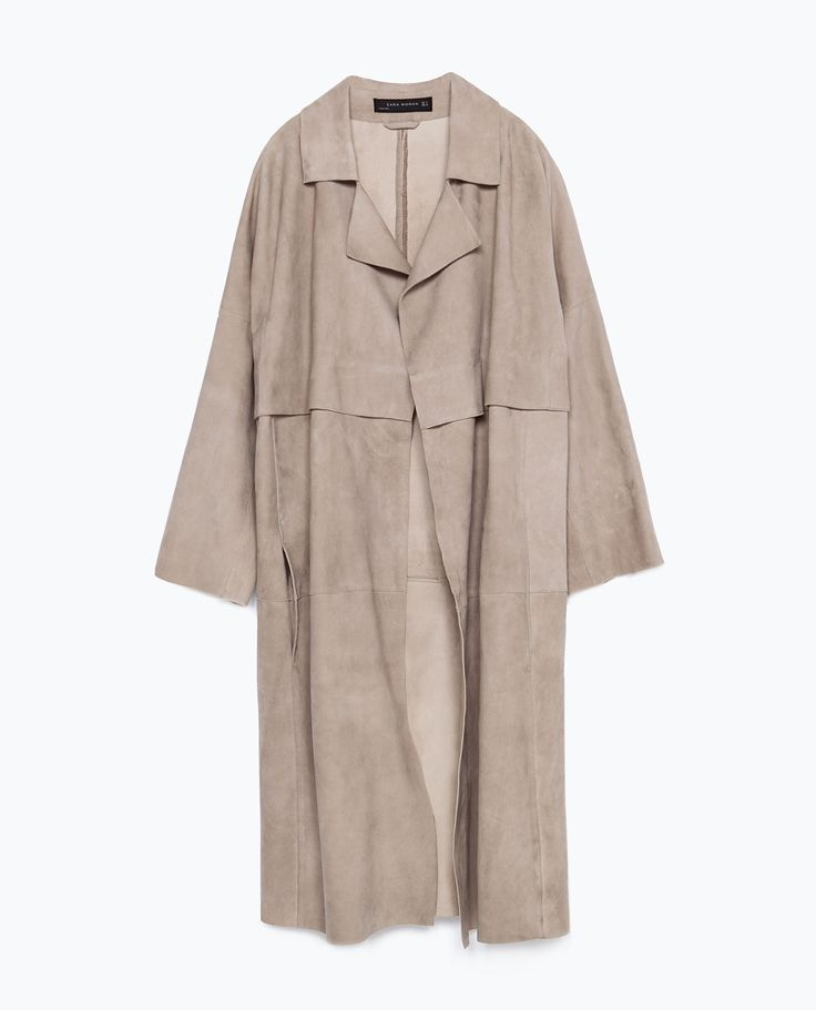 SUEDE COAT - Leather - WOMAN | ZARA United States