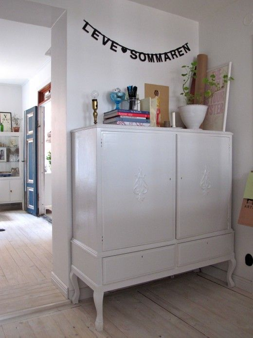 white . DIY furniture makeover