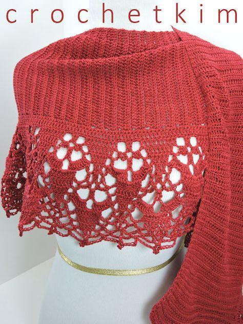 CrochetKim Free Crochet Pattern: Cinnamon Fling Wrap