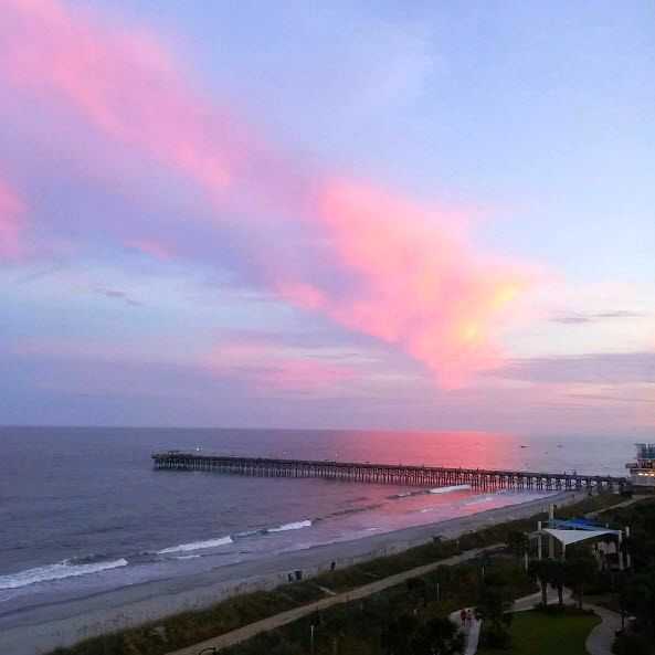 Take in the exquisite views of the Atlantic Ocean at Holiday Sands North on the Boardwalk, centrally located on the Myrtle Beach Boardwalk & Promenade   Just North of the 2nd Avenue Pier   Myrtle Beach   South Carolina   Photo via Instagram by @cdpalm39   Click on the pin for more info and additional places to stay and play.