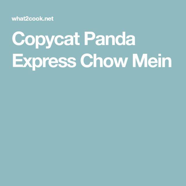 Copycat Panda Express Chow Mein