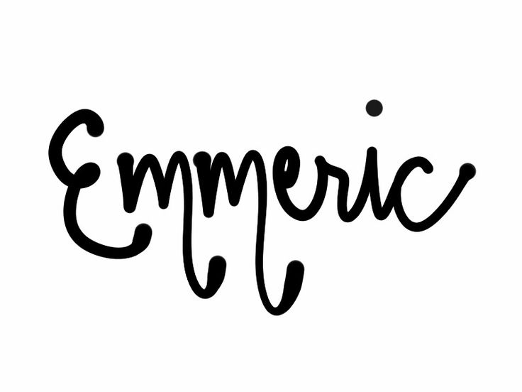 Baby boy's name Emmeric. French or German form of Henry.