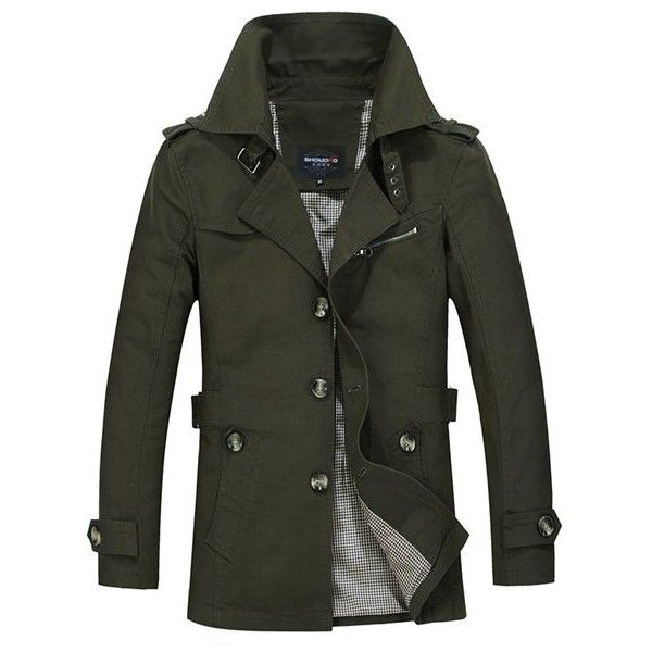 Turn-Down Collar Epaulet Single Breasted Long Sleeve Men's Trench Coat ($34) ❤ liked on Polyvore featuring men's fashion, men's clothing, men's outerwear, men's coats, mens single breasted trench coat, mens trench coat, mens fur collar coat, mens trenchcoat and mens outerwear