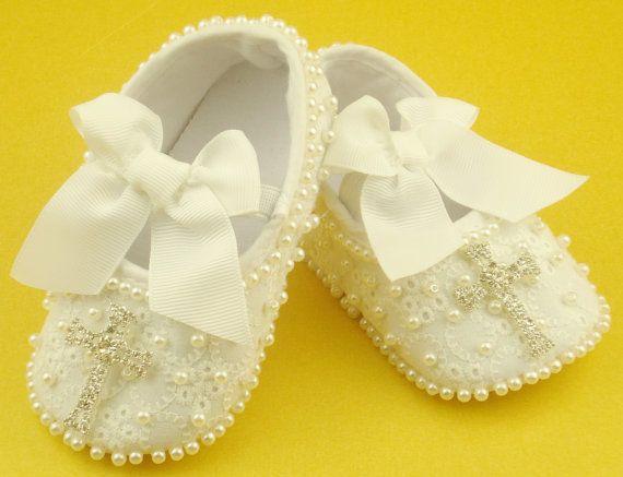 Zapatos de bebé de bautismo bautizo zapatos por FairylandForBabies