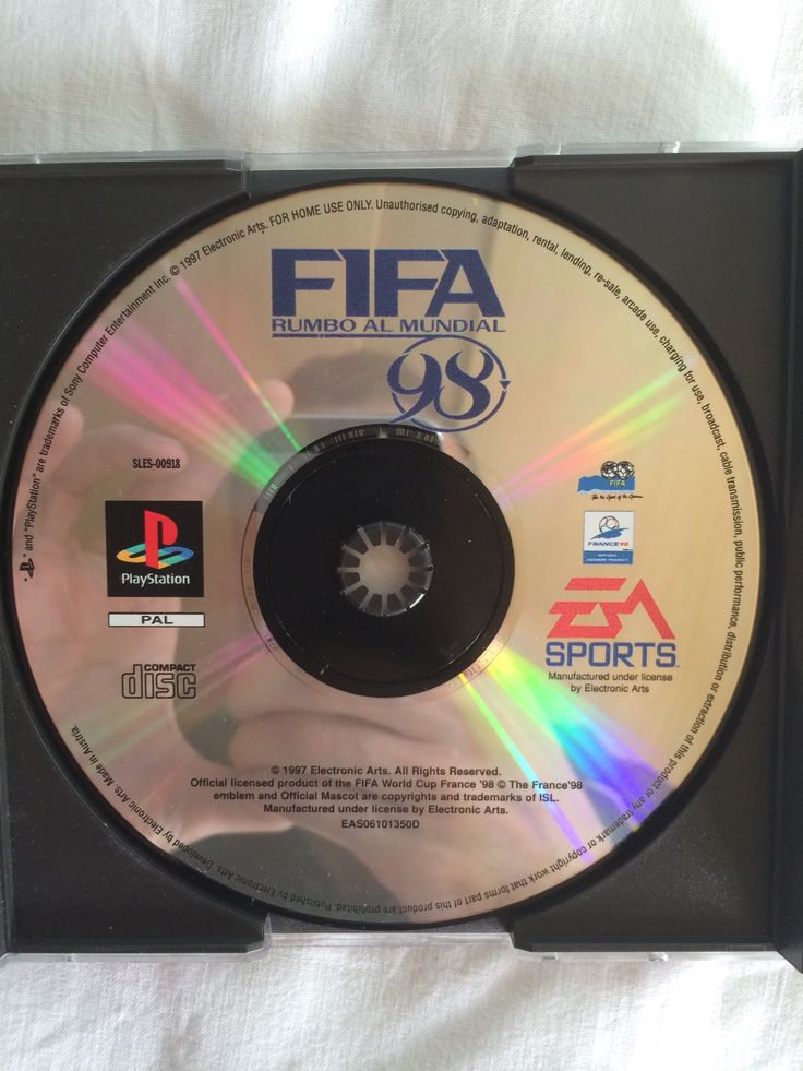 FIFA Rumbo al Mundial 98 game disc.