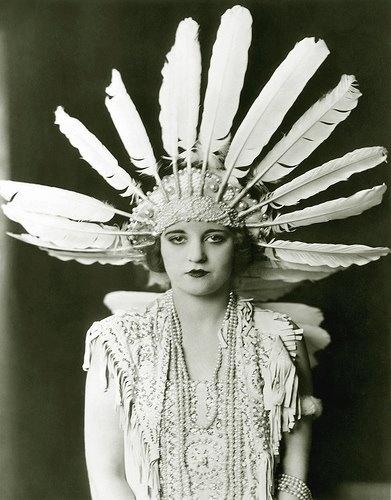 Vintage Glam Ziegfeld Follies Girl
