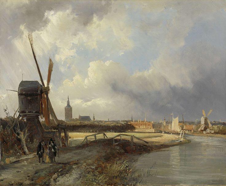Gezicht op Den Haag, Cornelis Springer, ca. 1850 - ca. 1852
