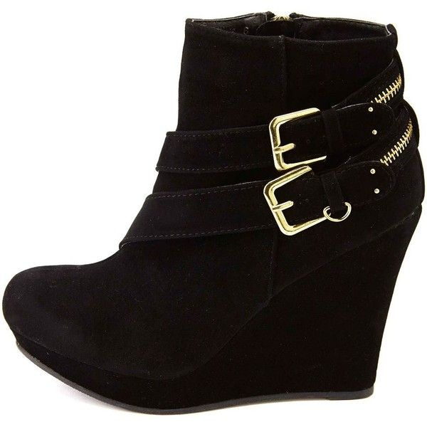 Best 25  Black wedge ankle boots ideas on Pinterest | Black wedge ...