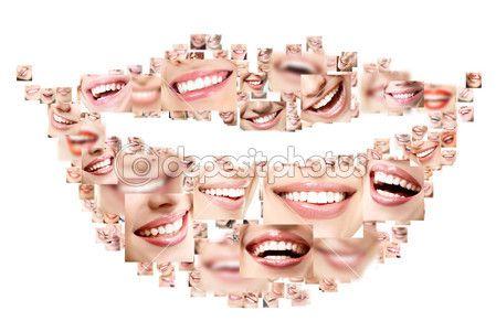 идеальный, улыбающиеся лица — Стоковое изображение #52013735