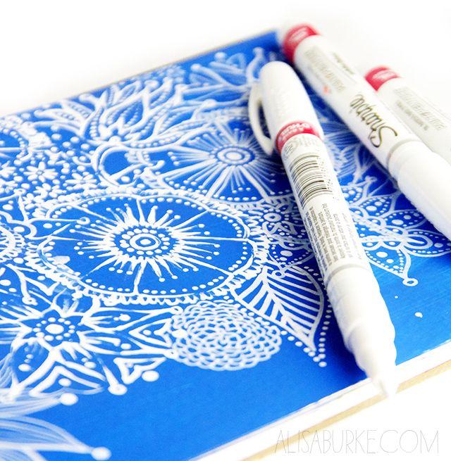 alisaburke: a peek inside my sketchbook- working with white pens