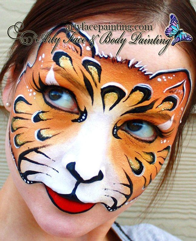Cheetah Tear Lines Face Paint