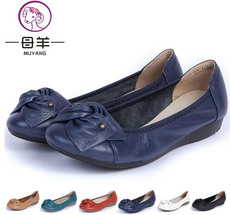 Plus size(34-43) women genuine leather flat shoes 2014 newest fashion female casual single shoes women flats free shipping