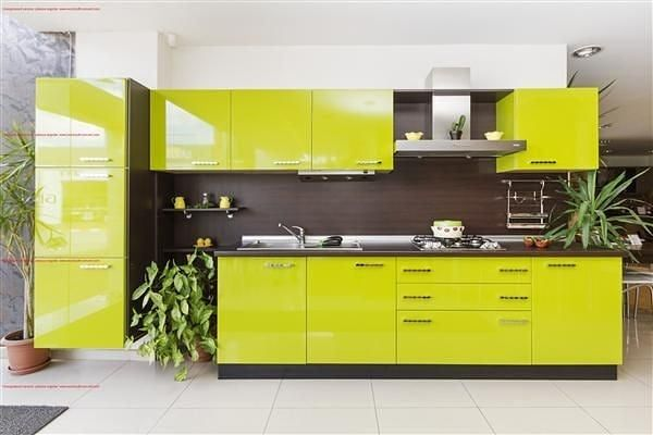 Positive Vibes Elegance Of Green Straight Kitchen Comment Your Opinion For Gr Kitchen Furniture Design Kitchen Room Design Modern Kitchen Interiors