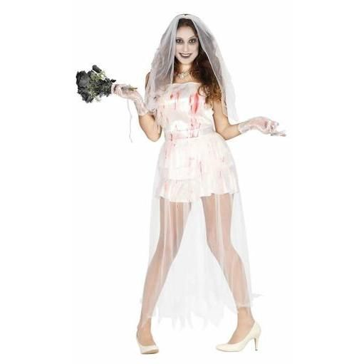 Vestido de novia ensangrentada
