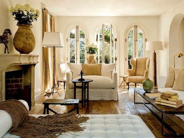 Gorgeous French Country Living Room Decor Ideas (42