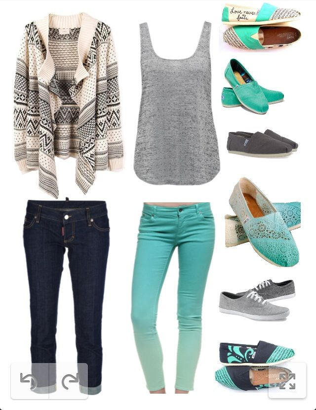 Perfect mix and match outfit! I actually almost bought a cardigan like this one!