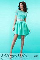 Вечернее короткое платье Джуди ментол 4823