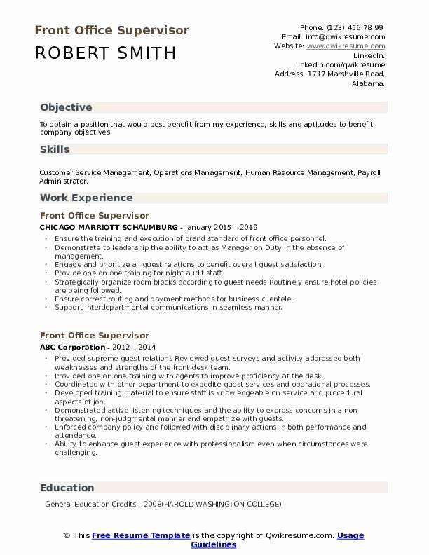 Front Desk Supervisor Resume Lovely Front Fice Supervisor Resume Samples Sales Resume Examples Sales Resume Resume Examples
