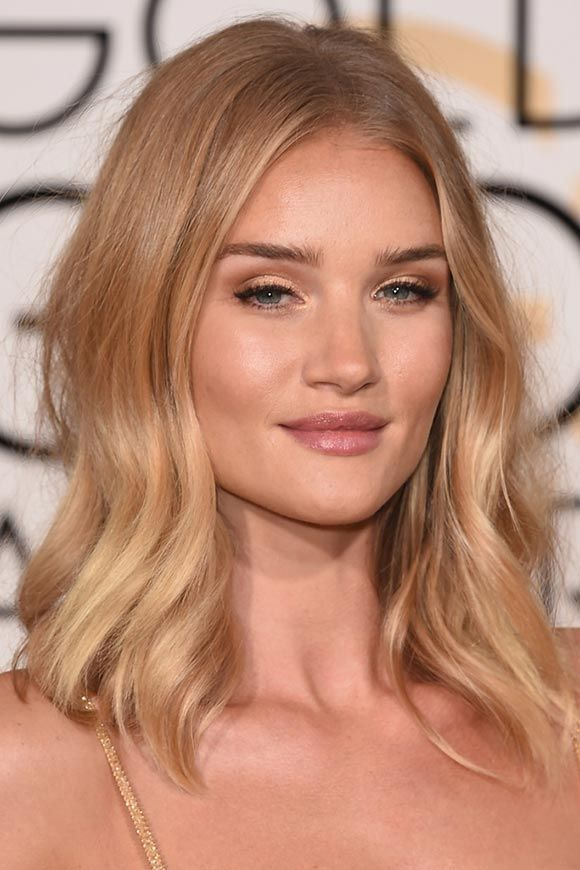 Golden Globes 2016 Celebrity Hairstyles & Makeup: Rosie Huntington-Whiteley  #makeup #beauty #hair