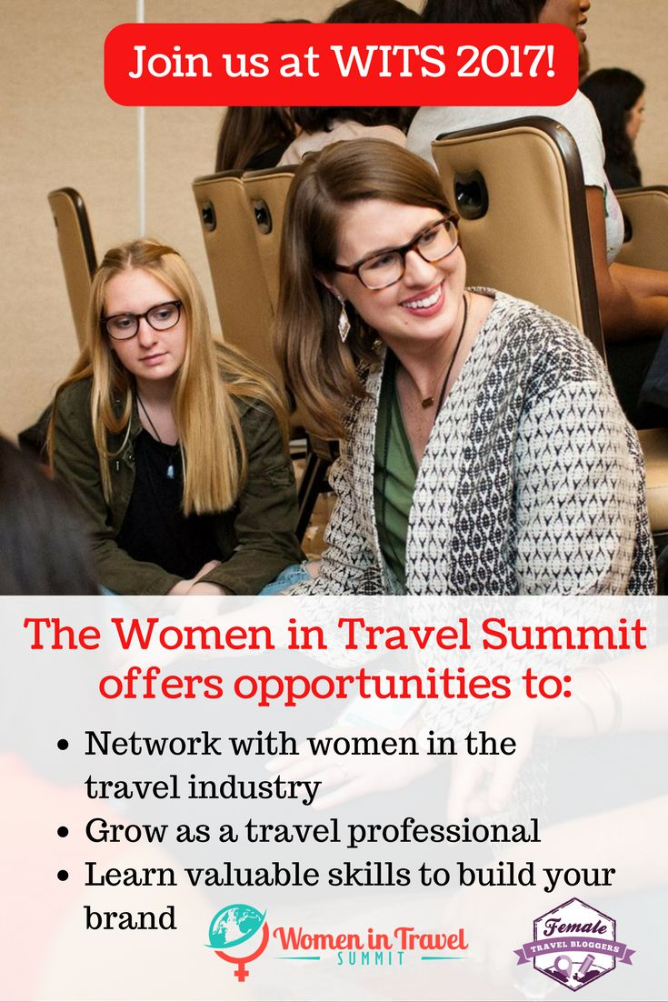 Women in Travel Summit will help you take your brand to the next level. It's a great way to network with women in the travel blogging industry and make new connections. This is one travel blogging conference you DO NOT want to miss! Click here to order your ticket, but hurry! Prices increase on March 1st! *Picture courtesy of WITS*