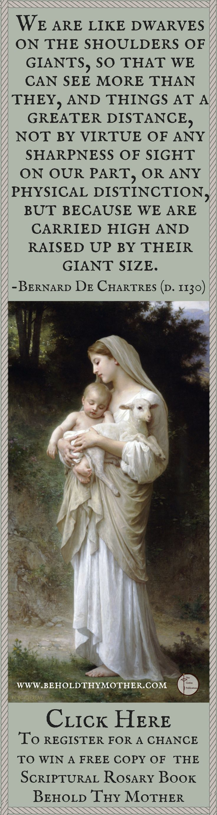 """Register for a chance to win a free copy of the Scriptural Rosary Book """"Behold Thy Mother."""""""