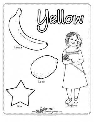 the color yellow coloring pages | Yellow Coloring Page | Preschool color activities ...