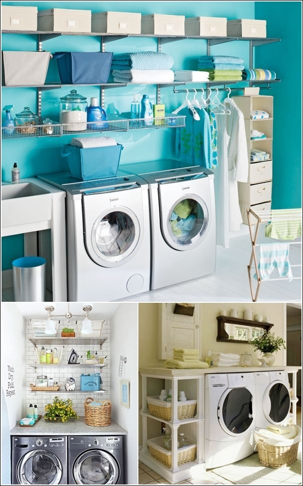 Gorgeous laundry rooms that only exist in Barbie Dream land. #boozymom