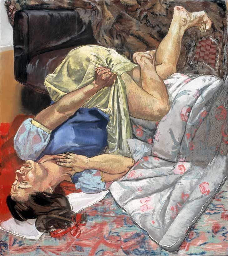 Paula Rego - Swallows the Poisoned Apple  1995, Pastel on paper, mounted on aluminium  178 x 150 cm