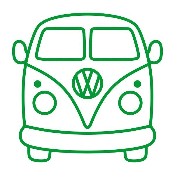 VW Volkswagen Bus Van Cuttable Design Schnittfeile. Vector, Clipart, Digital Scrapbo … #digitale Illustrationen