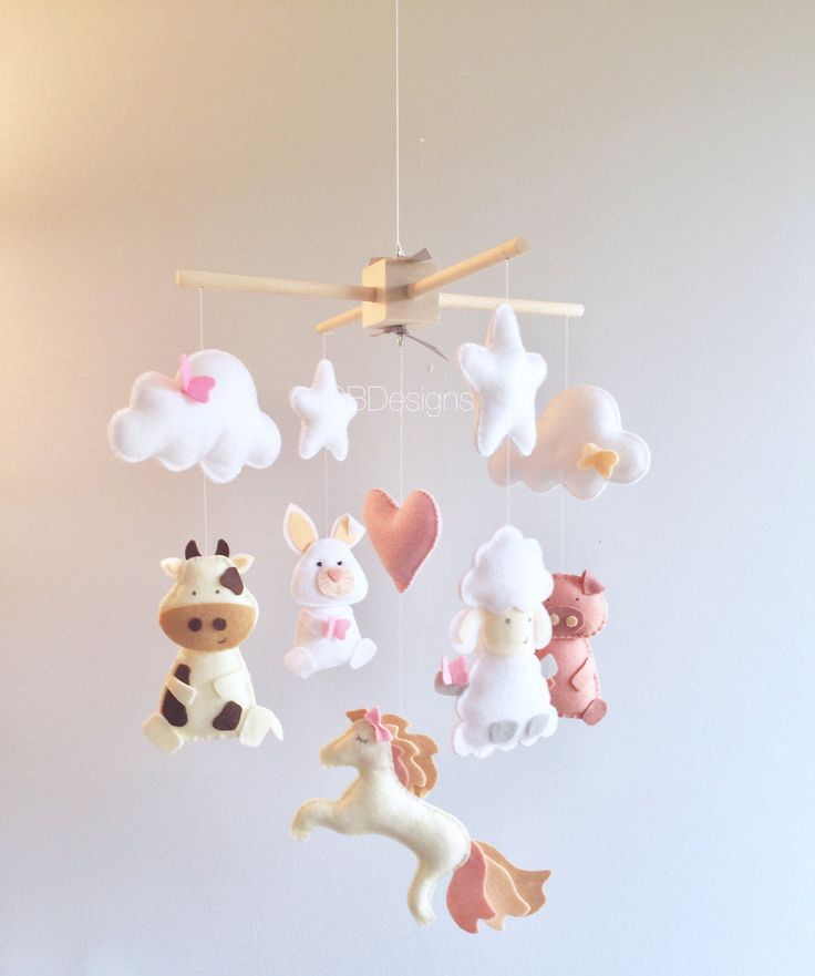 52 Best Images About Diy Felt Baby Mobiles On Pinterest