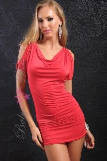 Rochie eleganta rosie Red Desire S-M