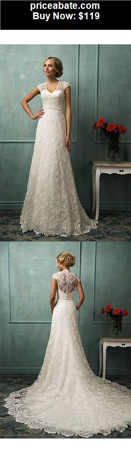 Wedding-Dresses: 2015 Ivory White Lace Wedding Dress Bridal Gown Custom Size 4 6 8 10 12 14 ++++ - BUY IT NOW ONLY $119